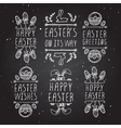 Hand-sketched easter typographic elements vector image