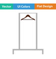 hanger rail icon vector image