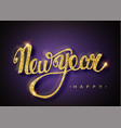 happy new year lettering greeting card for holiday vector image vector image