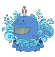 happy sea creatures vector image vector image