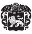 heraldic silhouette no29 vector image vector image