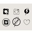 Hipster photo or video camera icon minimalism vector image