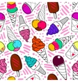 Ice Cream Pattern 2 Color vector image vector image