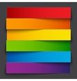 Infographics rainbow paper stripe banners with vector image vector image
