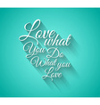 Insipational Love Typo Text with Retro Style vector image