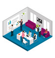 isometric business meeting concept vector image vector image