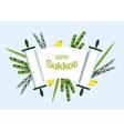 Jewish holiday Sukkot torah with Lulav Etrog vector image vector image