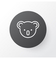 koala icon symbol premium quality isolated vector image vector image
