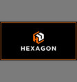 ku hexagon logo design inspiration vector image vector image