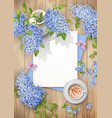 lilac on wooden background vector image
