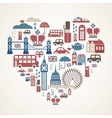 London love vector image