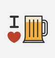 love beer vector image