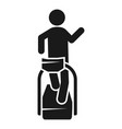 man treadmill icon simple style vector image