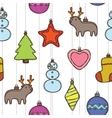 Merry christmas and happy new year pattern vector image vector image