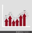 Modern design graph Business graph to success can vector image vector image