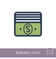 money outline icon business sign vector image