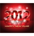 new year eve 2012 background vector image vector image