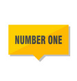 number one price tag vector image vector image