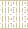 ornamental white and beige seamless pattern vector image
