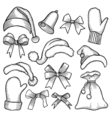 Patch badges of different Merry Christmas vector image vector image