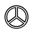 peace symbol isolated icon vector image vector image