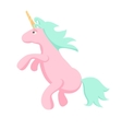 Pink unicorn isolated vector image vector image