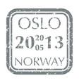 postal stamp from norway vector image vector image