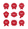 quality sale premium quality red badges set vector image