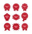 quality sale premium red badges set vector image