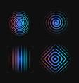 set abstract spiral finger print logo template vector image