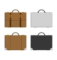 set of luggage vector image vector image
