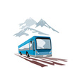 Shuttle Coach Bus and Mountains vector image vector image