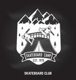 skateboard club badge vector image vector image