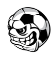 Soccer cartoon ball vector image