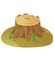 tree stump damaged tree destruction forest vector image