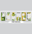 trendy editable template for social tropical vector image vector image