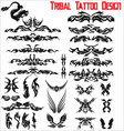 tribal tattoo design - set vector image vector image