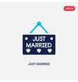 two color just married icon from birthday party vector image