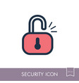 unlock icon access to the user vector image vector image