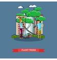 volunteers planting trees vector image