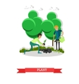Planting gardening concept in vector image
