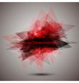 Modern geometric red background