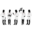 female doctor silhouettes vector image