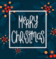traditional merry christmas design vector image