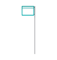 A sign post stand on vector image vector image