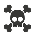 alert skull isolated icon design vector image vector image