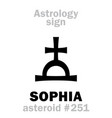 astrology asteroid sophia vector image vector image