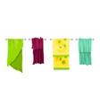 bath towel cartoon towels set cloth towel vector image