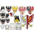 big set heraldic eagles vector image vector image