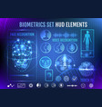 biometrics set hud elements vector image vector image